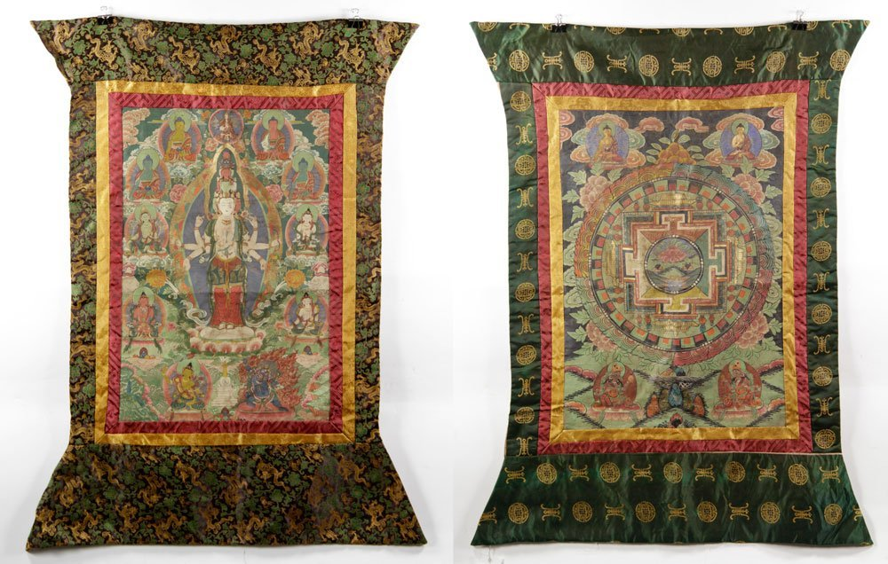 Two Antique Thangkas