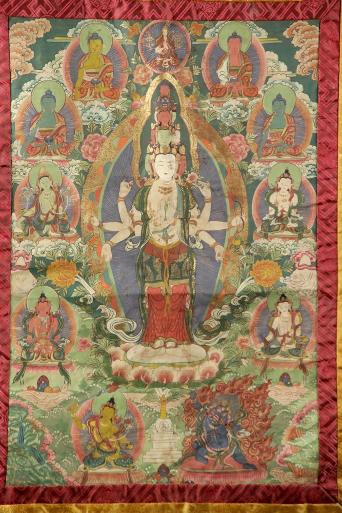 Two Antique Thangkas - 3