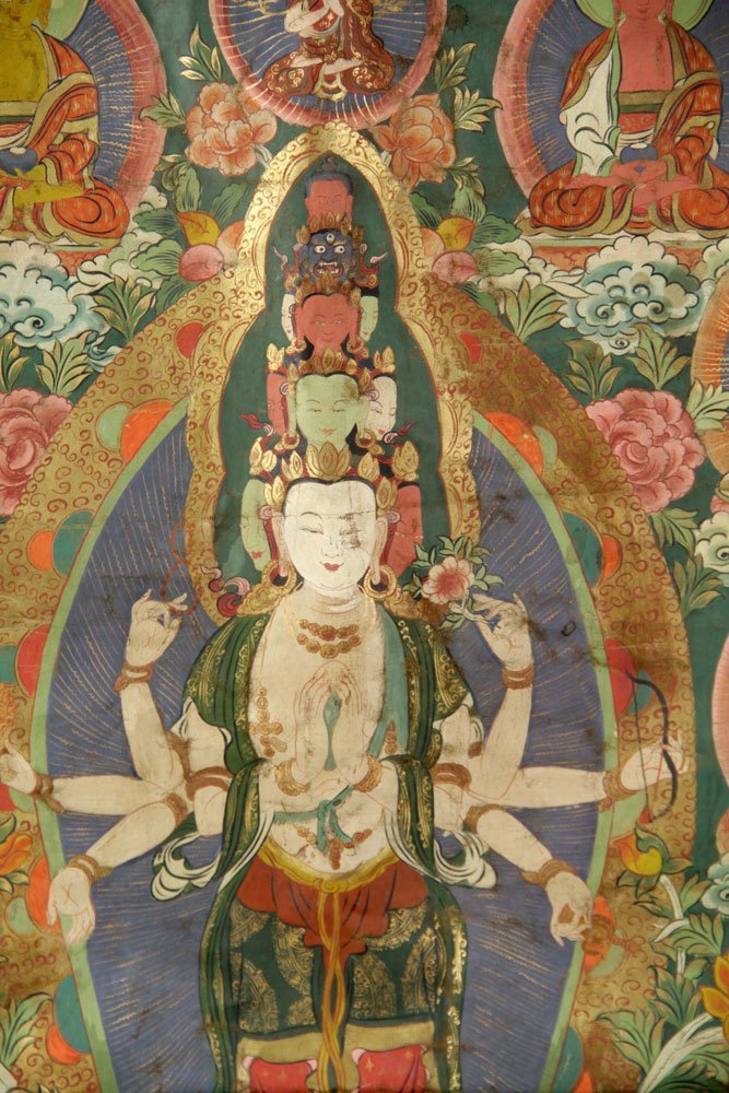 Two Antique Thangkas - 4