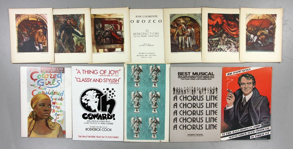 Lot of Savelli Woodblock Prints with Theater Cards - 5