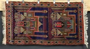 Semi Antique Afghan Prayer Rug