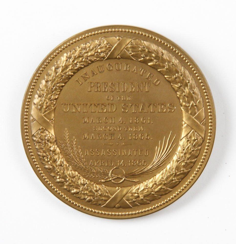 Commemorative Abraham Lincoln Inauguration Medal - 7