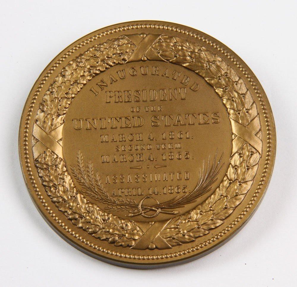 Commemorative Abraham Lincoln Inauguration Medal - 9