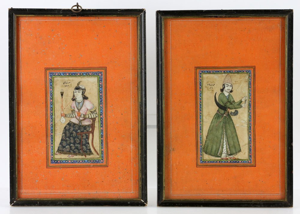Pr. 18th C. Middle-Eastern Watercolor Paintings