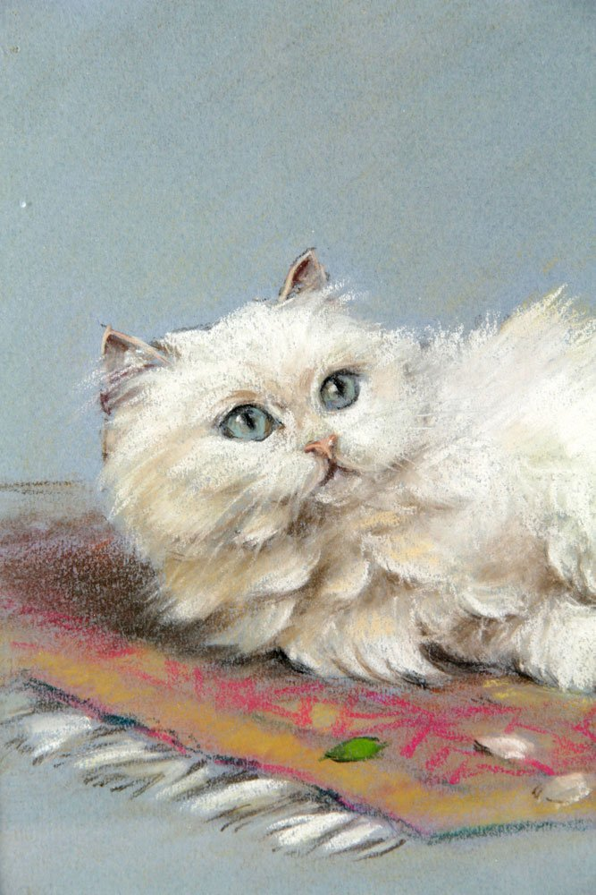Ronner, Cat, Pastel on Paper - 4