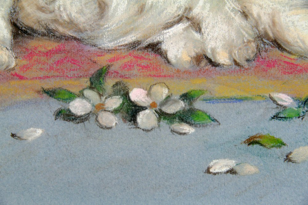 Ronner, Cat, Pastel on Paper - 5