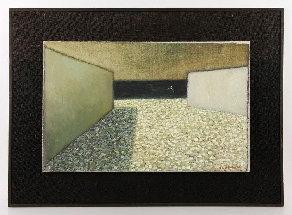 Mid-Century Abstract, Oil on Canvas