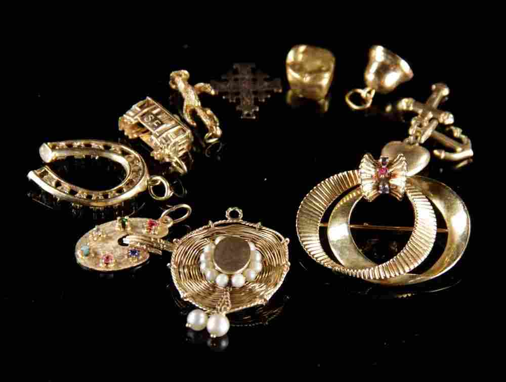 Miscellaneous Lot of 14K Yellow Gold Jewelry