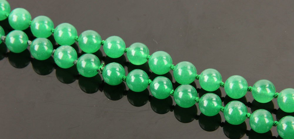 Chinese Spinach Jade Necklace - 2