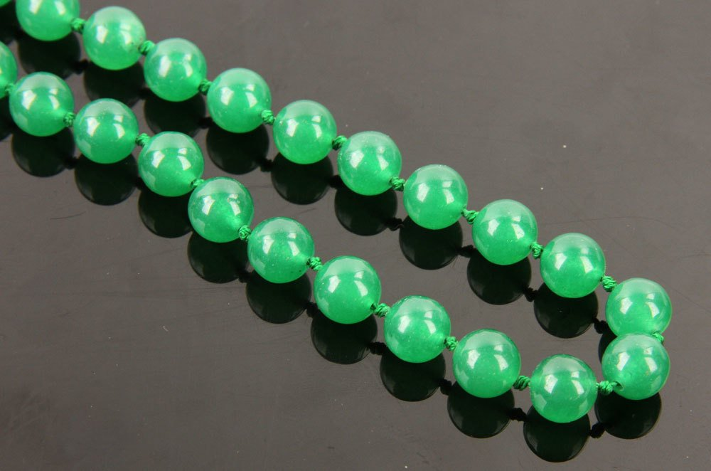Chinese Spinach Jade Necklace - 3