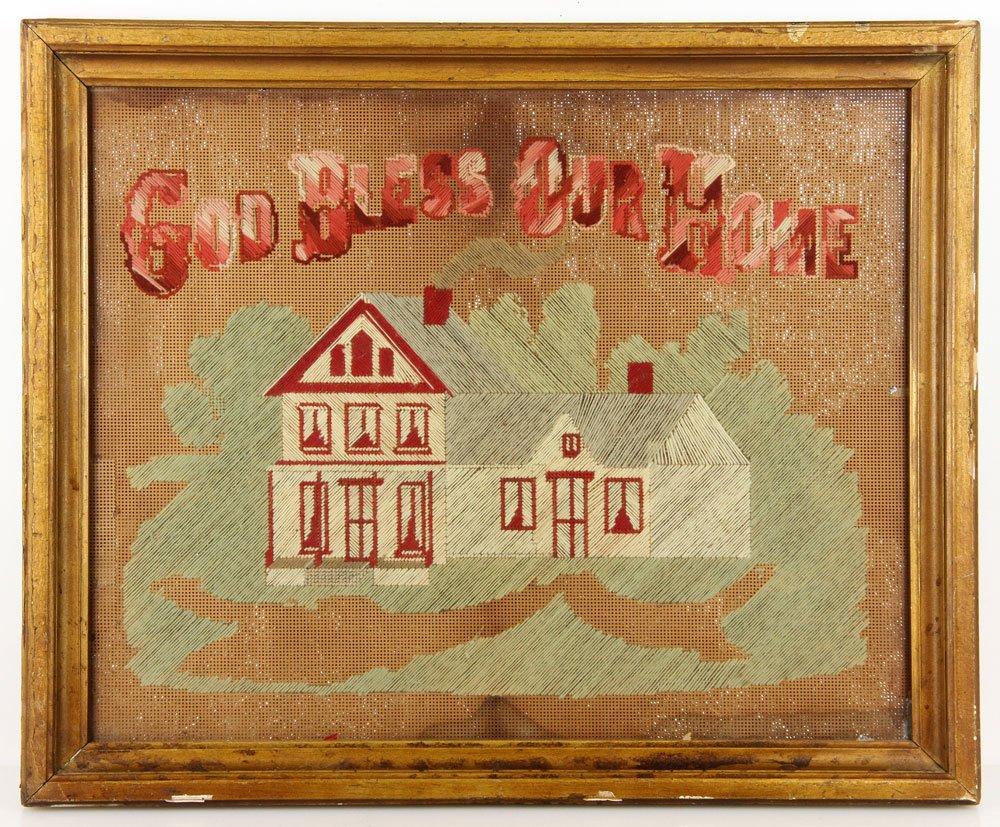 """God Bless Our Home,"" Embroidery"