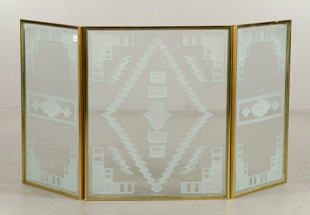 Art Deco Folding Fire Screen