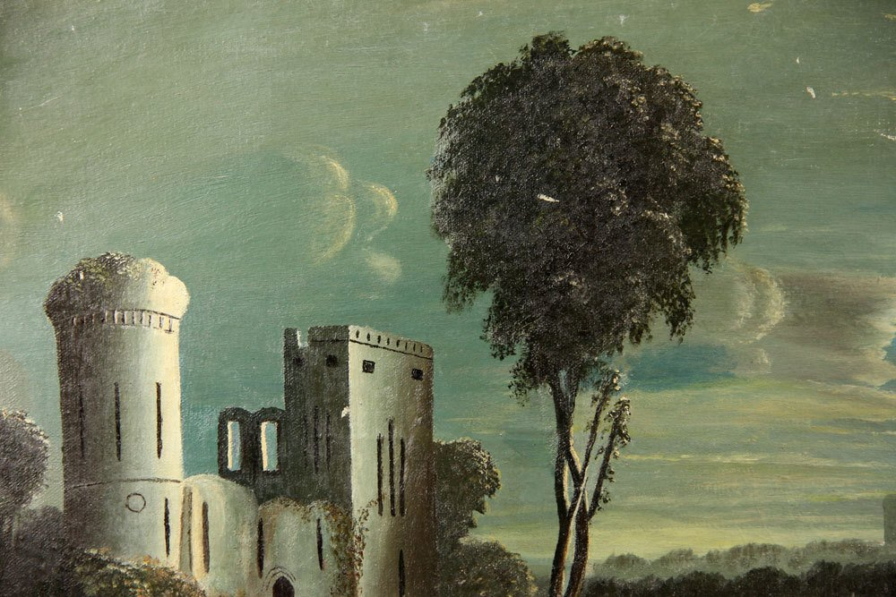 School of Thomas Chambers, Castle Ruins, Oil on Canvas - 3