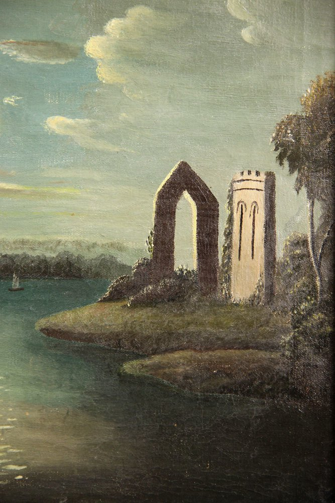 School of Thomas Chambers, Castle Ruins, Oil on Canvas - 5