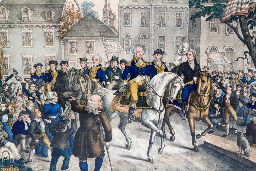 Washington in New York, Print - 2