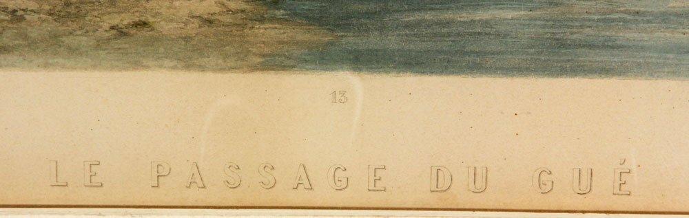 """19th C. """"Le Passage Du Gue,"""" Print - 3"""