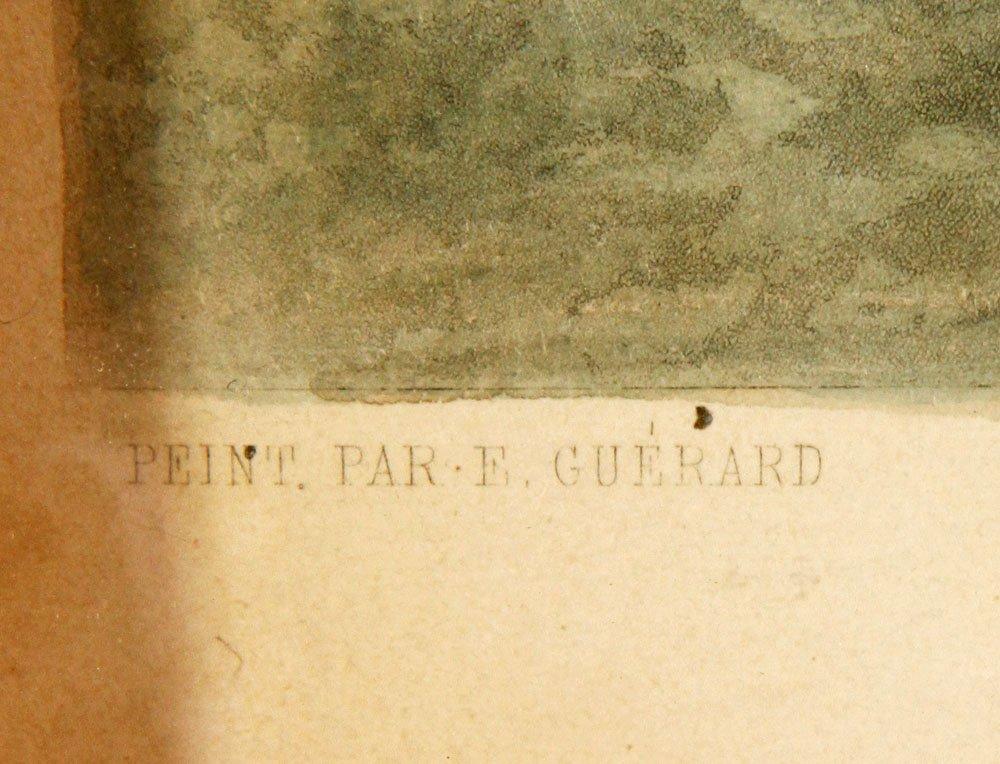 """19th C. """"Le Passage Du Gue,"""" Print - 5"""