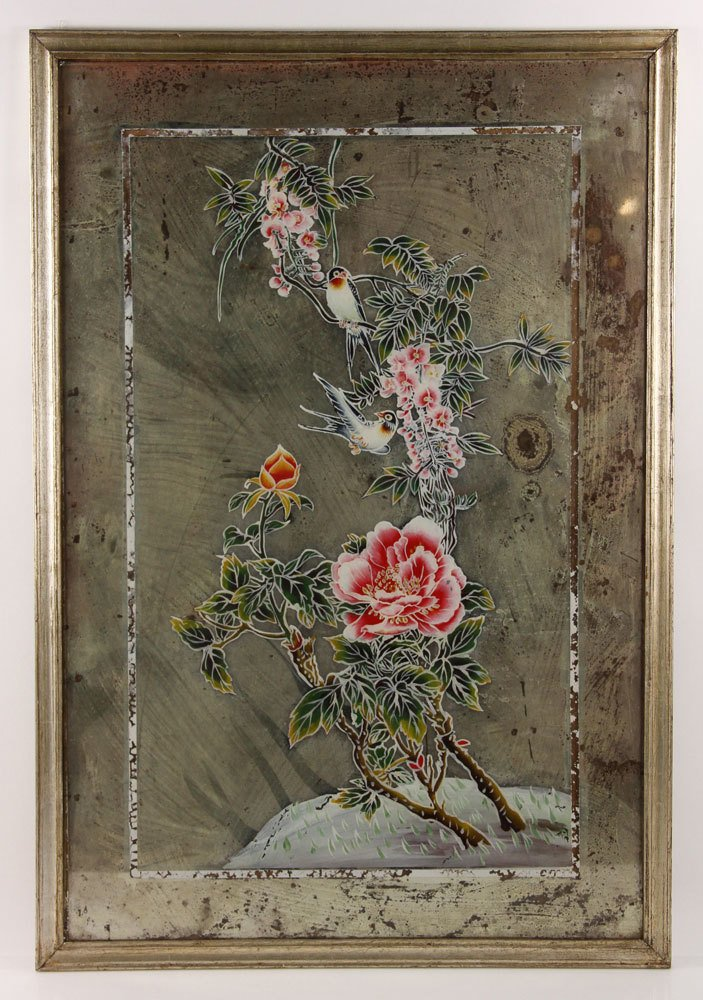 Two Chinese Reverse Paintings on Mirrors - 2