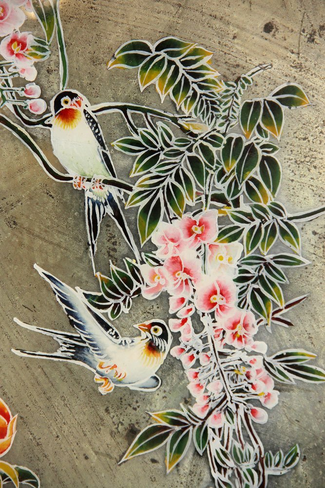 Two Chinese Reverse Paintings on Mirrors - 4