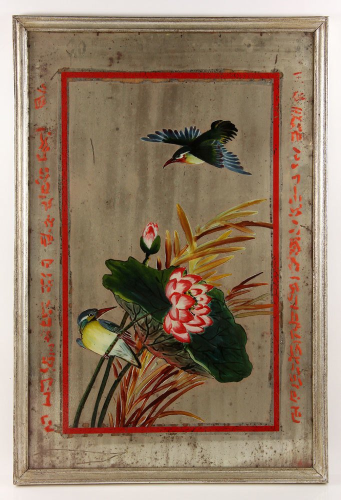 Two Chinese Reverse Paintings on Mirrors - 5