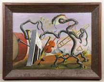 Beaujon, Surrealist Orchestra, Oil on Canvas