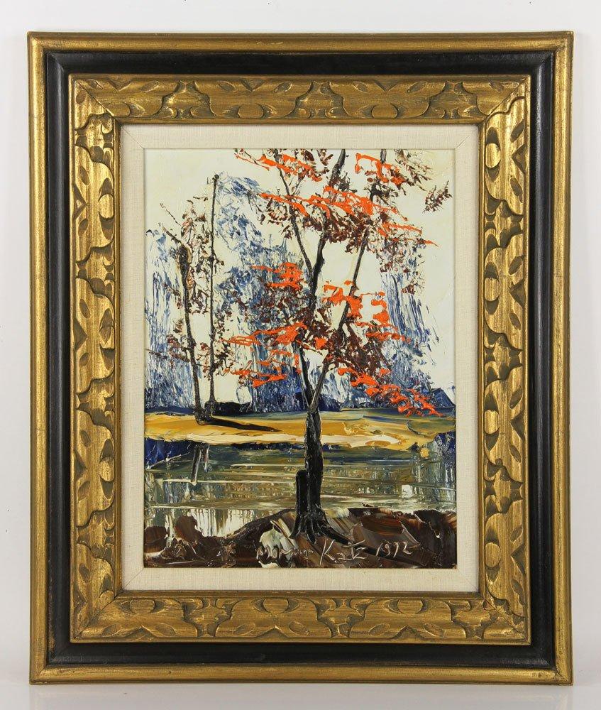 Katz, Landscape, Oil on Masonite