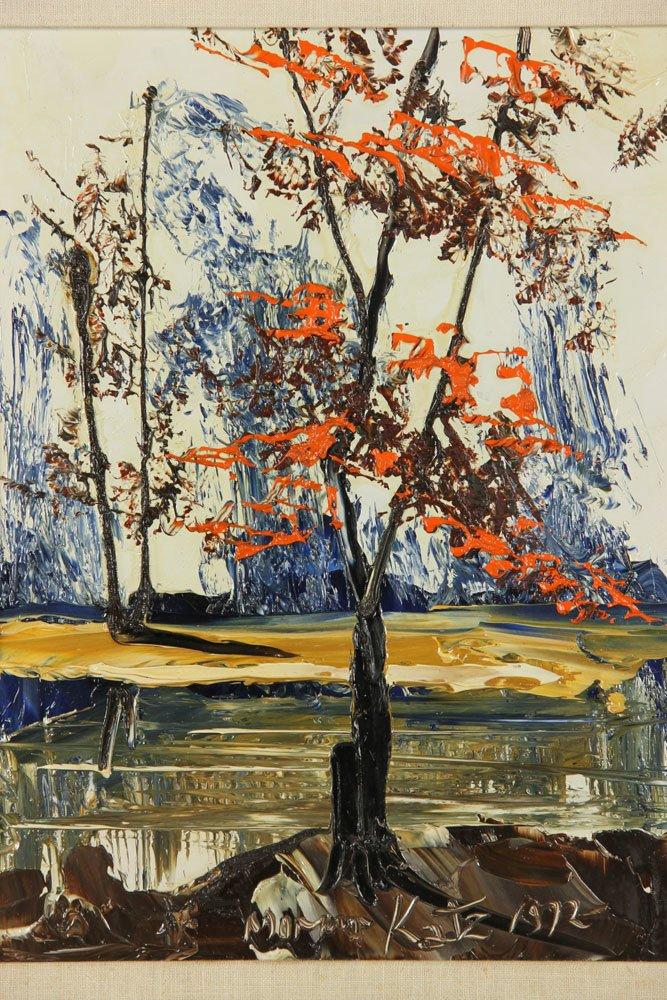 Katz, Landscape, Oil on Masonite - 2