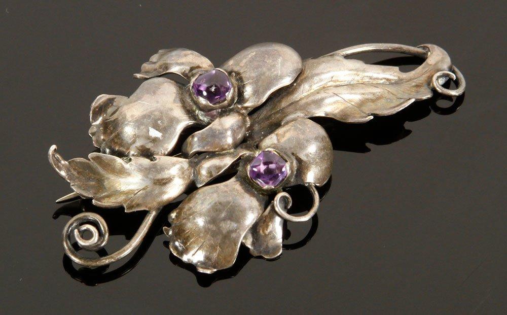 3 Modernist Sterling Silver Pins - 2
