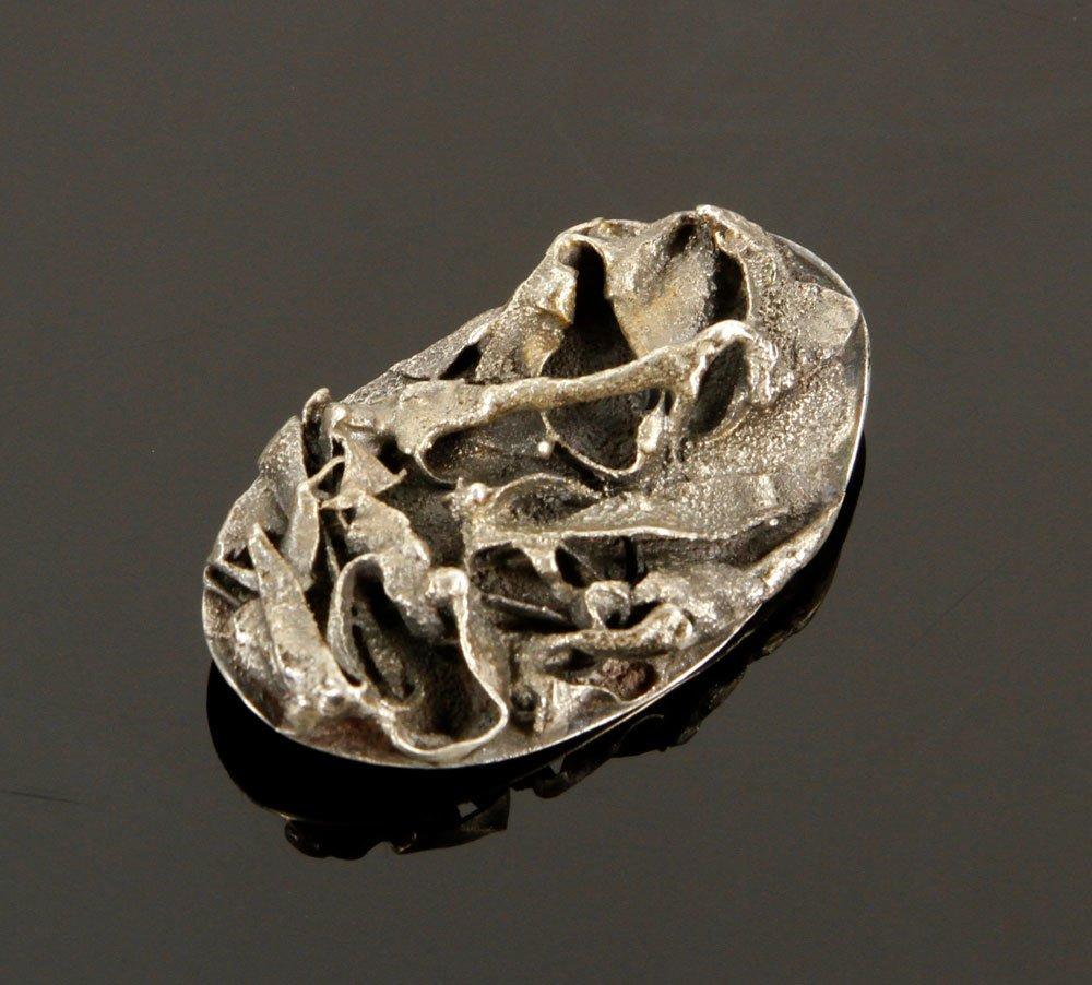 3 Modernist Sterling Silver Pins - 3