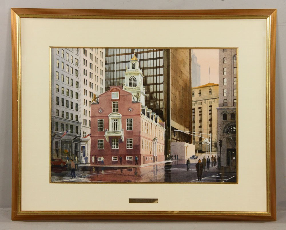 Kubitz, Old State House, Watercolor