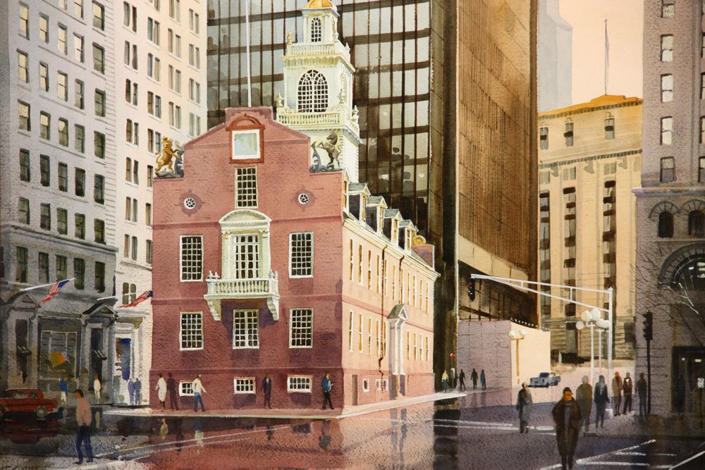 Kubitz, Old State House, Watercolor - 2