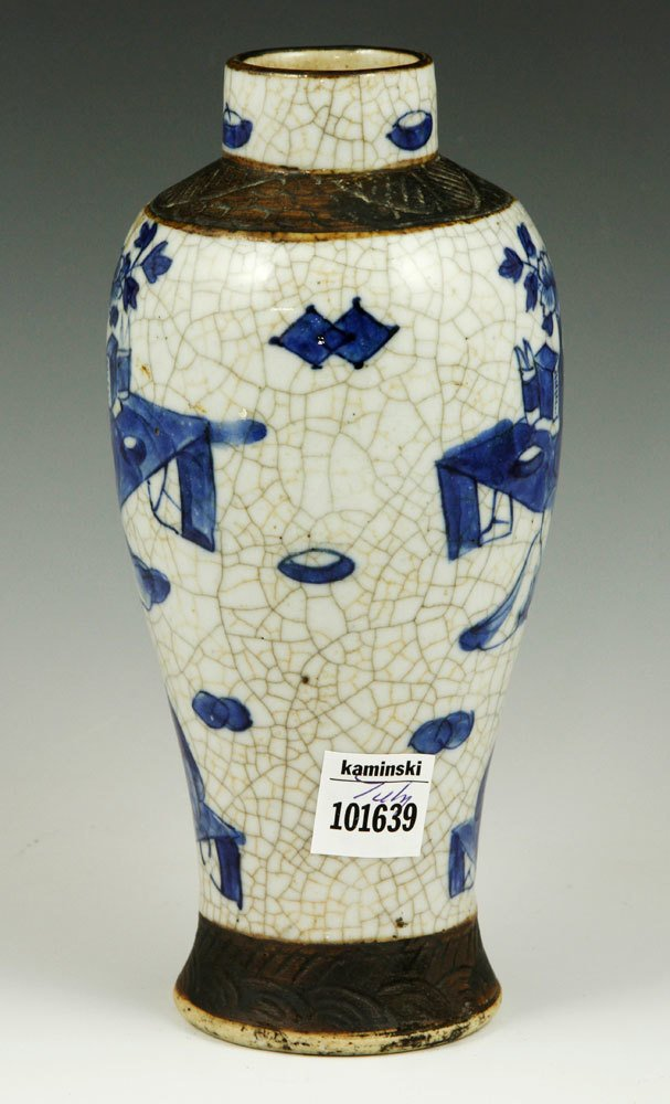 19th C. Chinese Blue and White Vase - 2