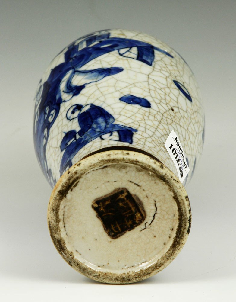 19th C. Chinese Blue and White Vase - 3