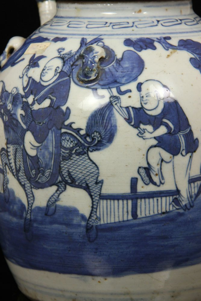 Chinese Blue and White Teapot - 4