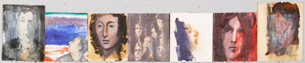 Jeswald, 7 Portraits, Oil on Board