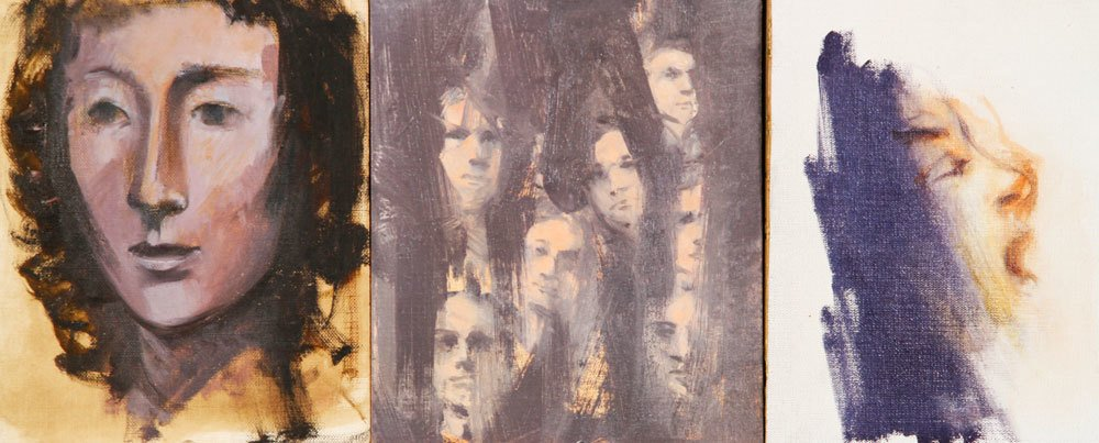 Jeswald, 7 Portraits, Oil on Board - 2