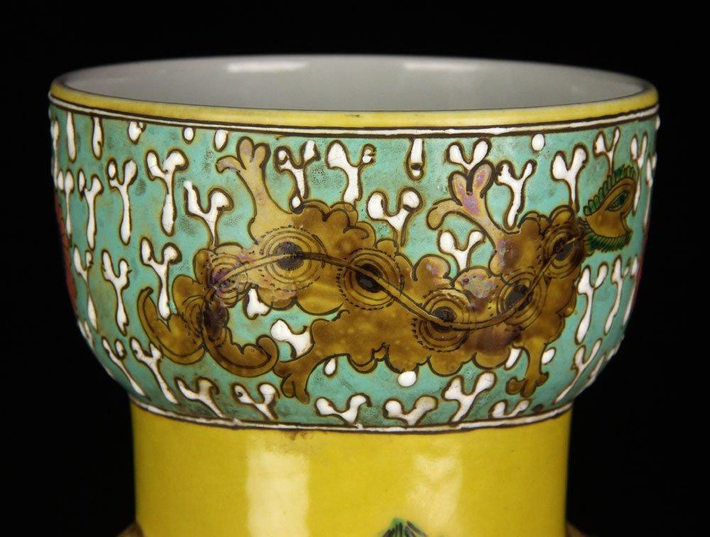 Chinese Famille Verte Vase - 3