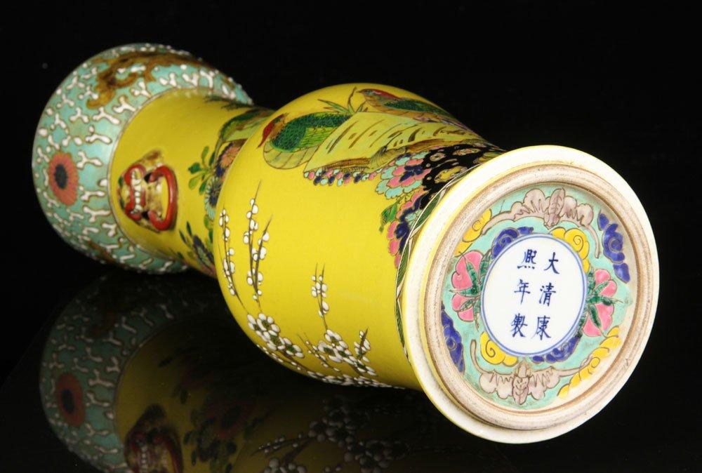Chinese Famille Verte Vase - 5