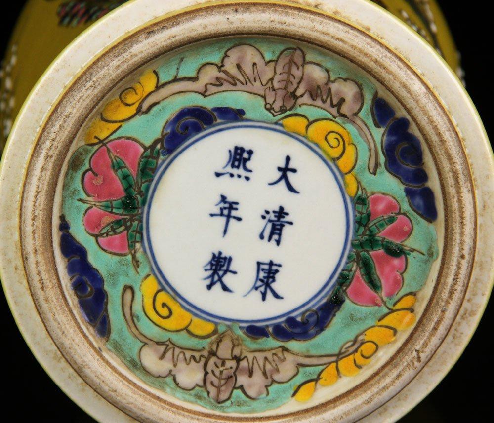 Chinese Famille Verte Vase - 6