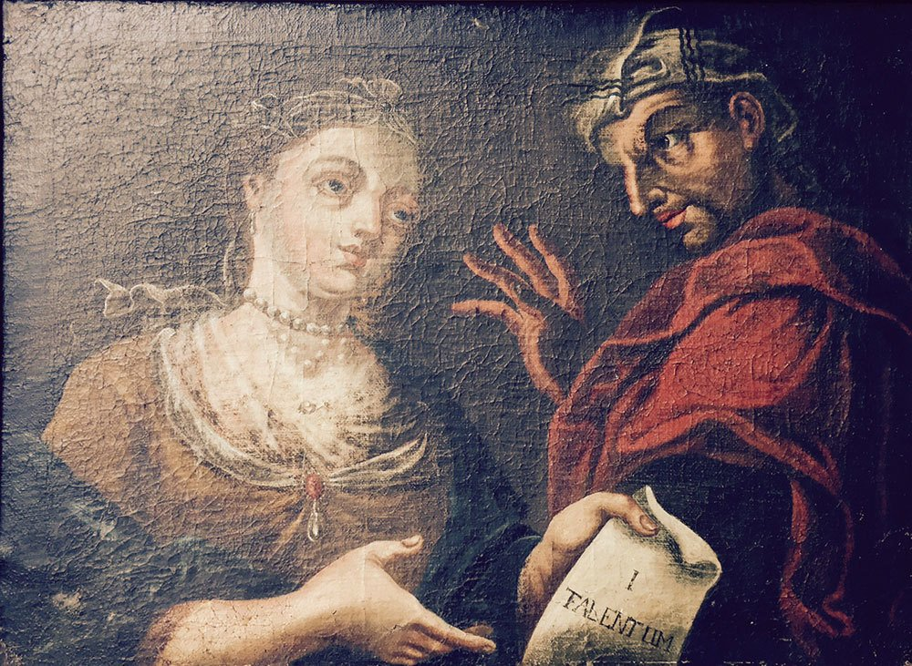 "17th to 18th C. Italian School, ""Faust,"" Oil on Canvas - 3"