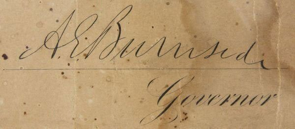 State of Rhode Island 1869 Signed Commission - 3