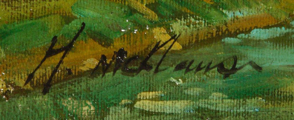McKlaus, Dutch Street Scene, Oil on Canvas - 4