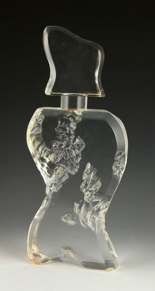Lucite Sculpture of a Bottle