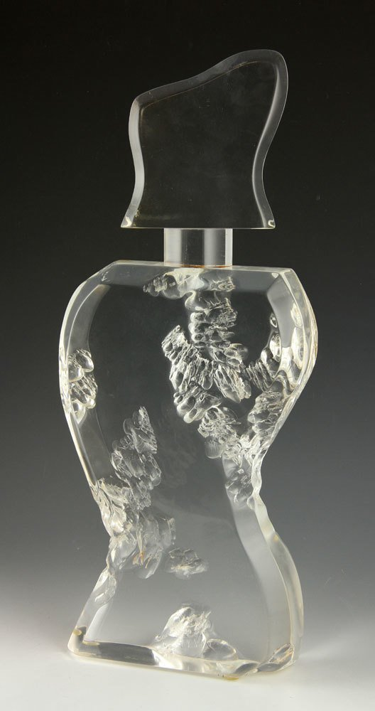Lucite Sculpture of a Bottle - 2