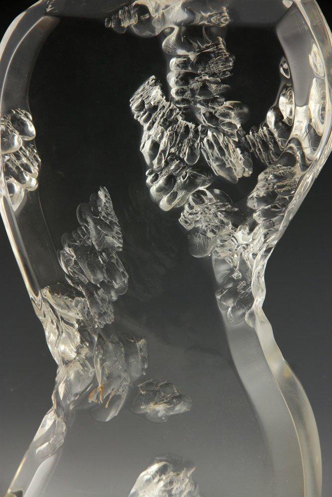 Lucite Sculpture of a Bottle - 3