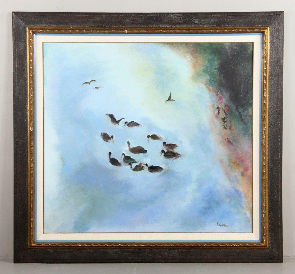 Kreindler, Birds, Oil Painting