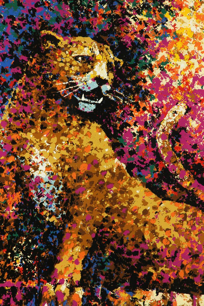 """West, """"The Leopard,"""" Colored Serigraph - 2"""