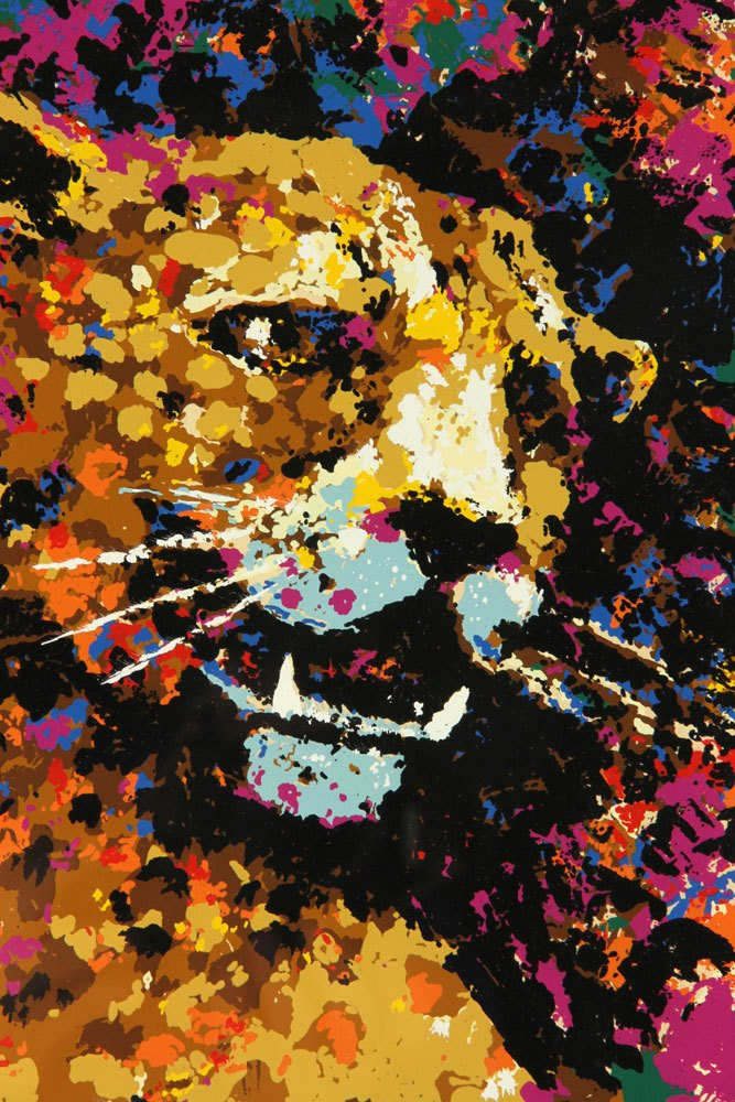 """West, """"The Leopard,"""" Colored Serigraph - 3"""
