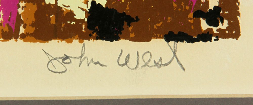 """West, """"The Leopard,"""" Colored Serigraph - 5"""