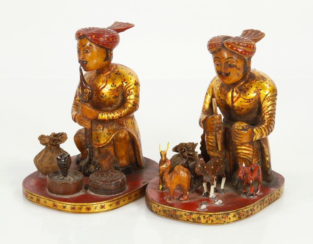 Pr. Indian Figures of Cobra Peddlers - 2